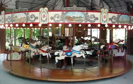 C.W. Parker Carousel, 2 Rows, 20 Jumpers For Sale