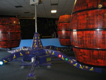 Barrels of Fun Spin Ride For Sale