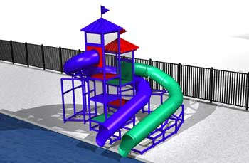 YMCA Waterslides